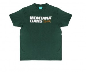 Montana Cans - T-Shirt Typo+Logo - Green
