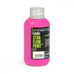 Grog - Xtra Flow Paint 100 Neon Fuchsia - 100ml