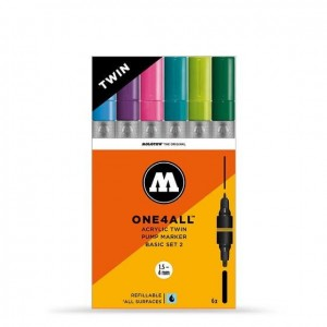 Molotow - One4All Acrylic Twin Basic Set 2