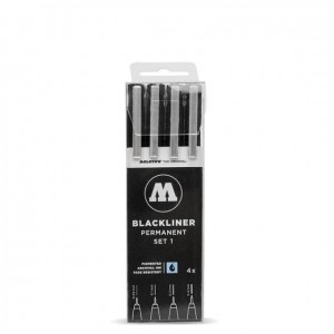 Molotow - Fineliner - Blackliner Set 1 - 4szt.