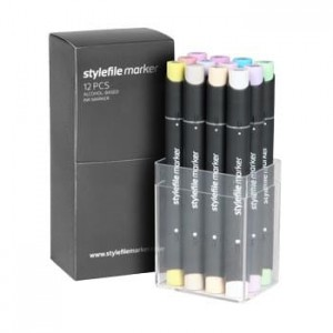 Stylefile Twin - 12 Pastel Set