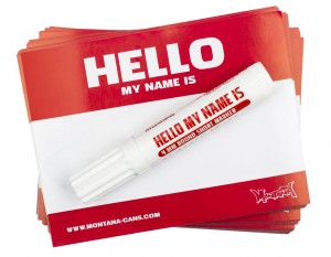 Montana Cans - Hello Gold Stickers - Red