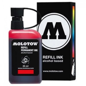 Molotow Refill - Permanent Ink Red - 25ml
