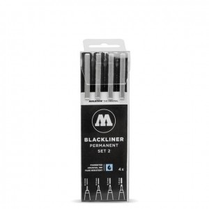 Molotow - Fineliner - Blackliner Set 2 - 4szt.