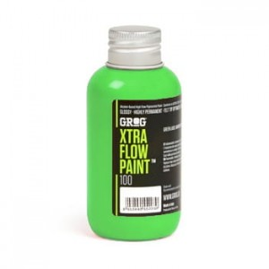 Grog - Xtra Flow Paint 100 Neon Green - 100ml