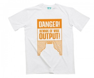 Montana Cans - T-Shirt Danger Ultra Wide - White / Orange