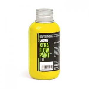 Grog - Xtra Flow Paint 100 Flash Yellow - 100ml