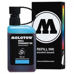 Molotow Refill - Permanent Ink Light Blue - 25ml